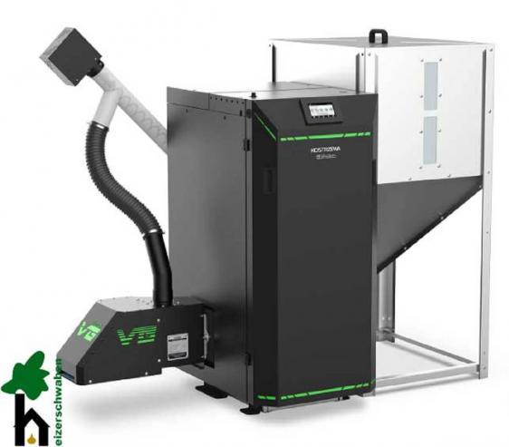Pelletheizung EEI Pellets mit Rost für Stückholz - 8 bis 32 kW - BAFA